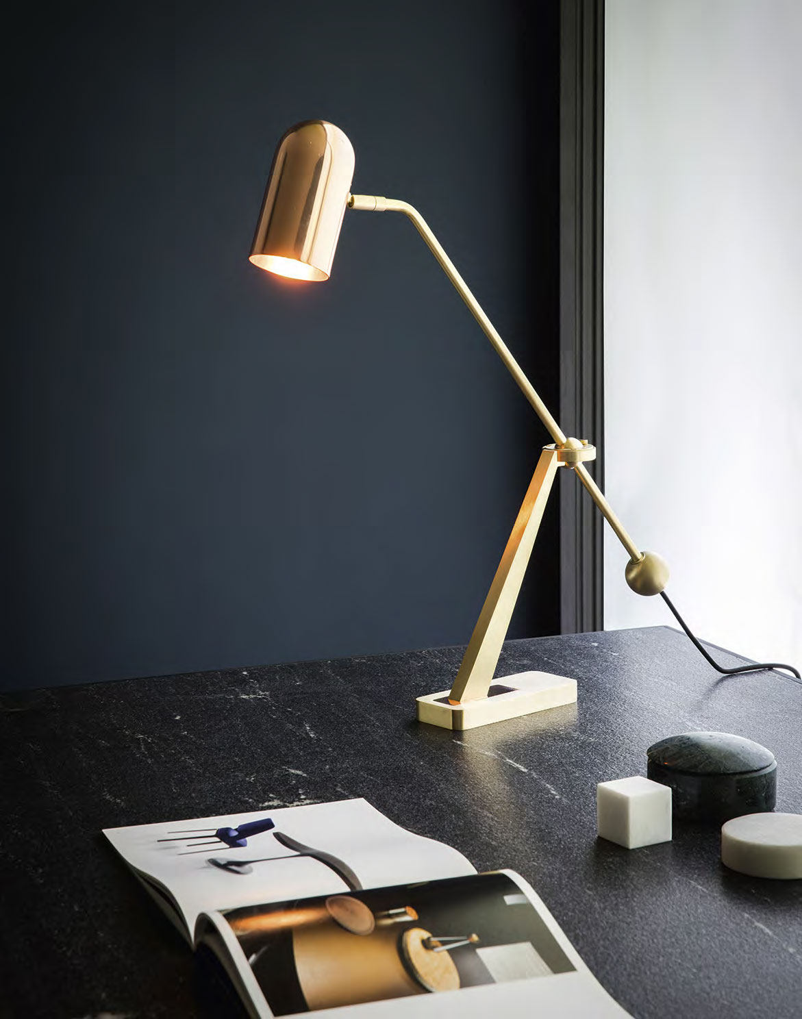 STASIS table lamp by Bert Frank.