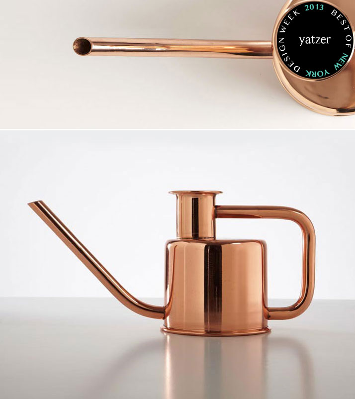 X3 copper watering can by Paul Loebach for Kontextür.