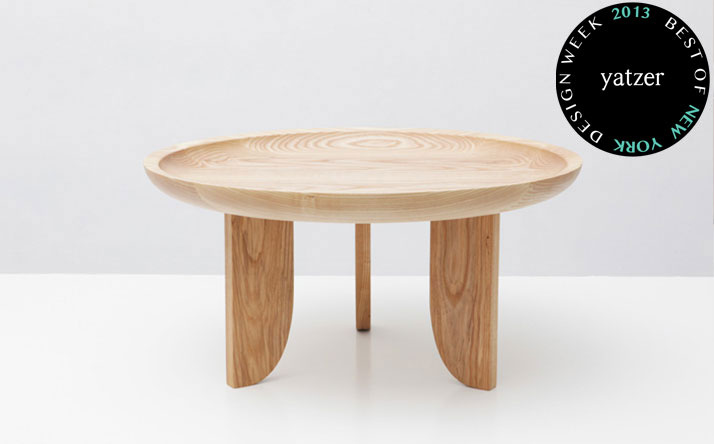 Dish Table by Chelsea Green and James Minola from Grain design studio.