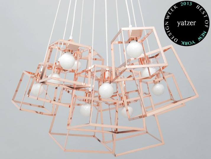 11 Piece Frame Cluster made of copper by Iacoli & McAllister.