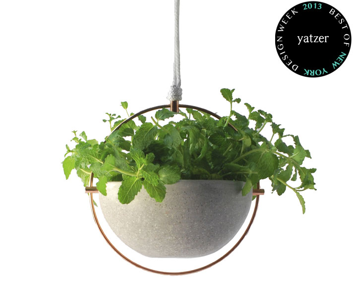 Hanging Pot from the debut Materiality collection from Cooperativa Panorámica.