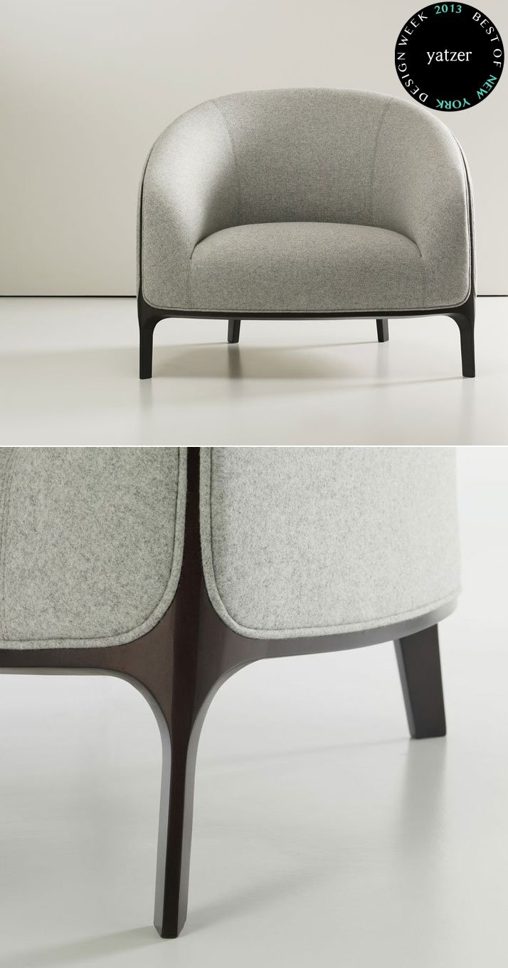 Catherine armchair by Noé Duchaufour-Lawrance for Bernhardt Design.