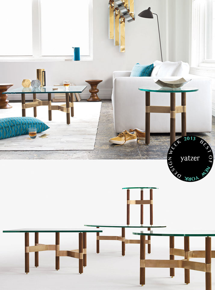 Helix Collection of occasional tables designed by Chris Hardy for Design Within Reach.