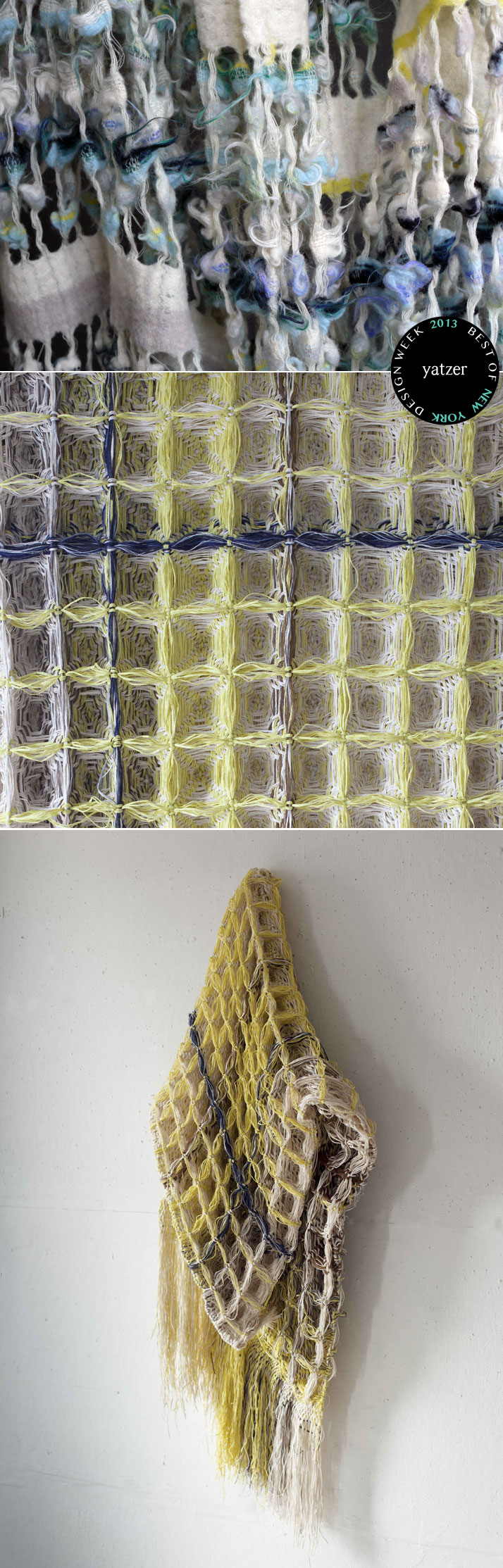 The FLUFF & WAFFLE series from textile designer Hiroko Takeda.