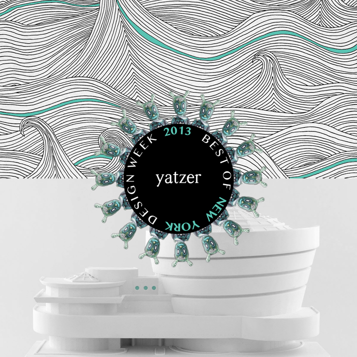 Cover of Yatzer's BEST OF NYDW2013 designed by Costas Voyatzis,  featuring the new GUEST created by the outstanding American Artist Gary Baseman for Lladró,  the ''Seascape-Winter'' wallpaper by Abigail Edwards and the Guggenheim Museum Architectural Sculpture by Chisel & Mouse. Soundtrack: Instrumental Lana Del Rey's ''Young and Beautiful'' produced by Jonathan Gardner.