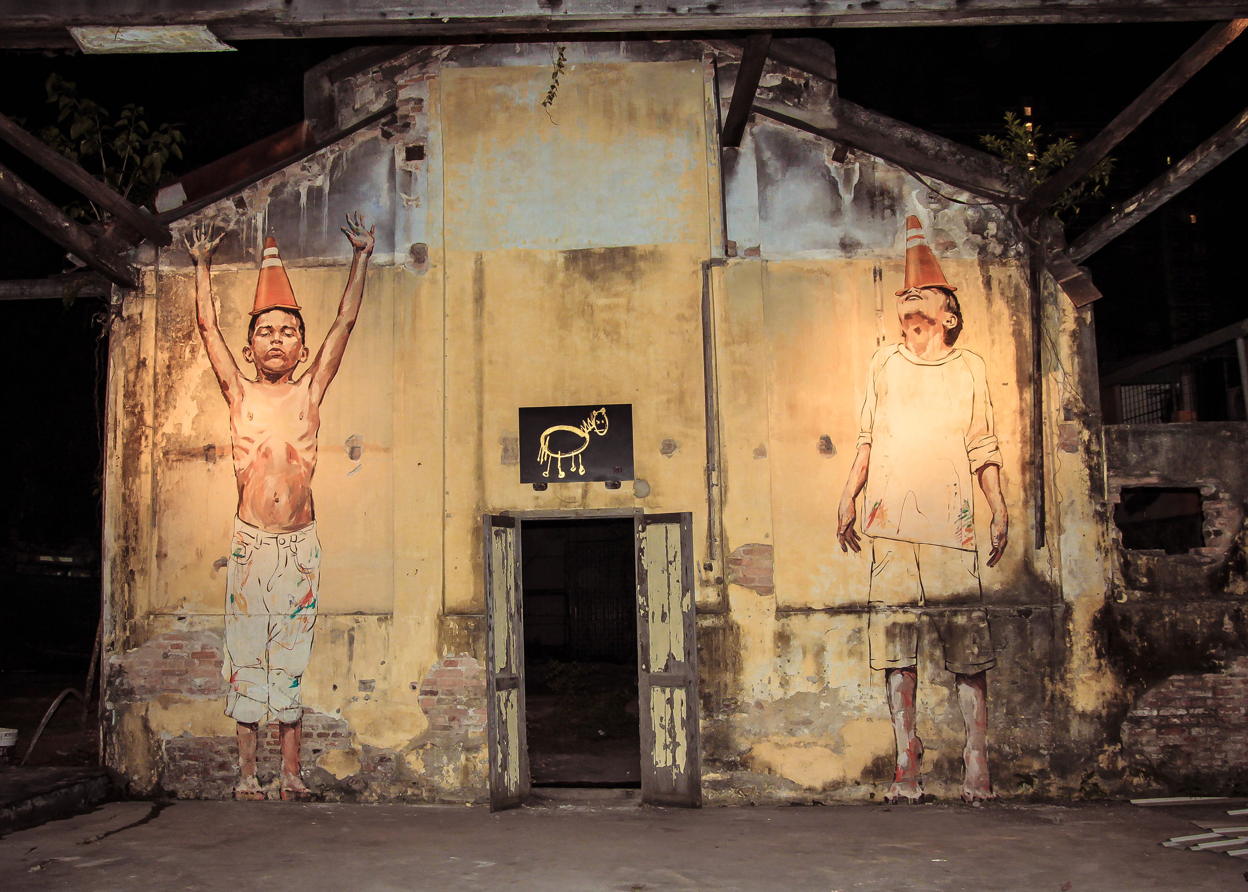 Hin Bus Depot, Penang. Photo courtesy of Ernest Zacharevic.