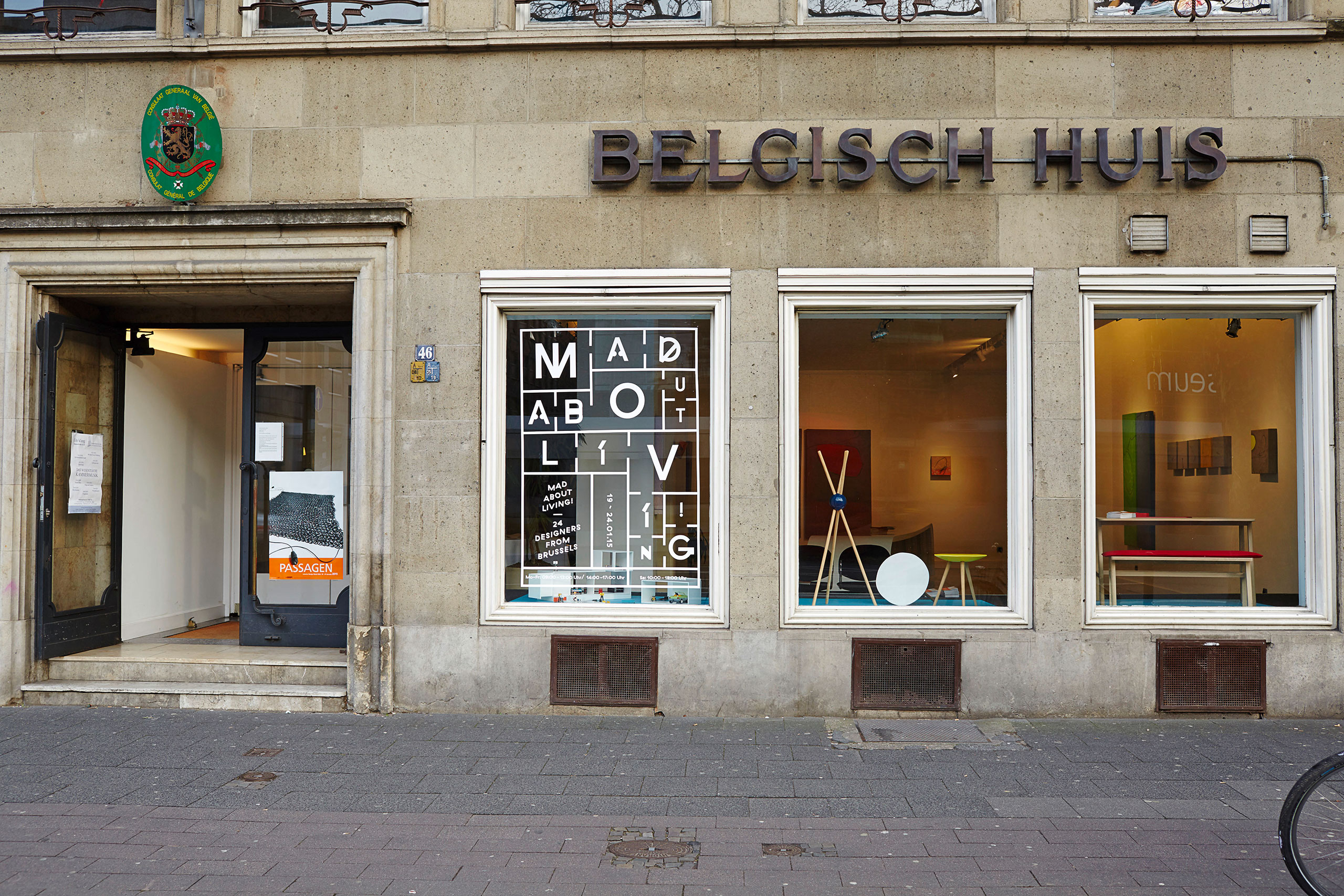 Exterior of the Belgisch Huis in Cologne. Photo © Valery Kloubert.