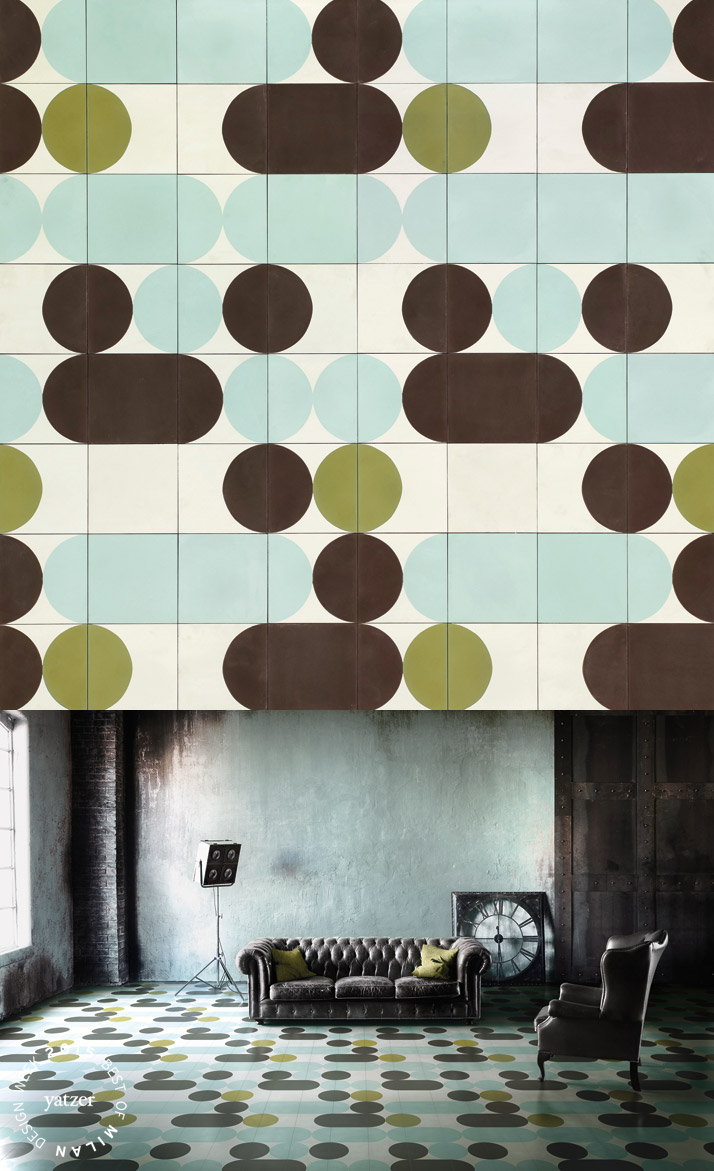 CEMENTILES by India Mahdavi for BISAZZA MOSAICO.