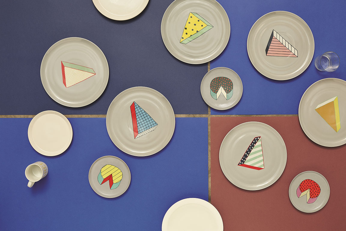 Rio plates collection by Arabeschi di latte for BITOSSI home.