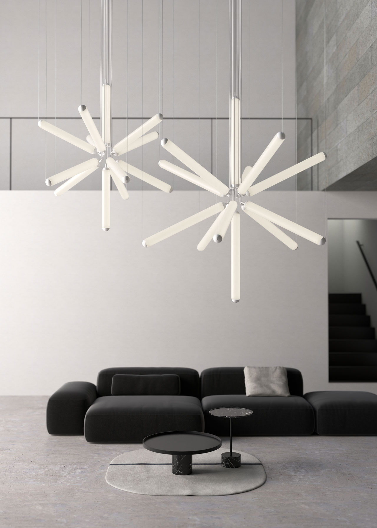 Puro Sparkle ceiling light by Lucie Koldova for Brokis.