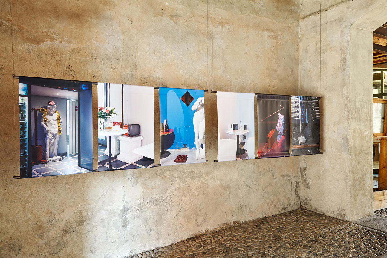 Installation view of the Capitalism Is Over exhibition atCascina Cuccagna.A project by Raumplan and ACCC for Milan Design Week2017.Photo byFederico Evangelista.