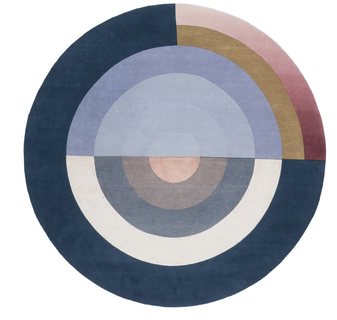 BLISS ROUND BLUE by Studio Mae Engelgeer for cc-tapis.