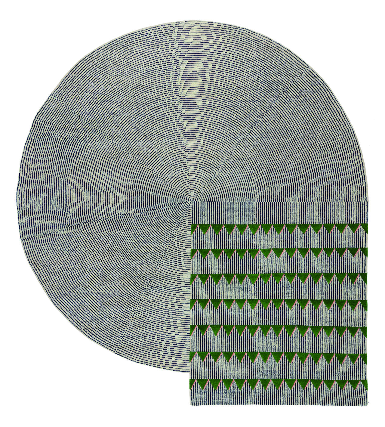 Plasterworks rug series designed by david/nicolas for cc-tapis.