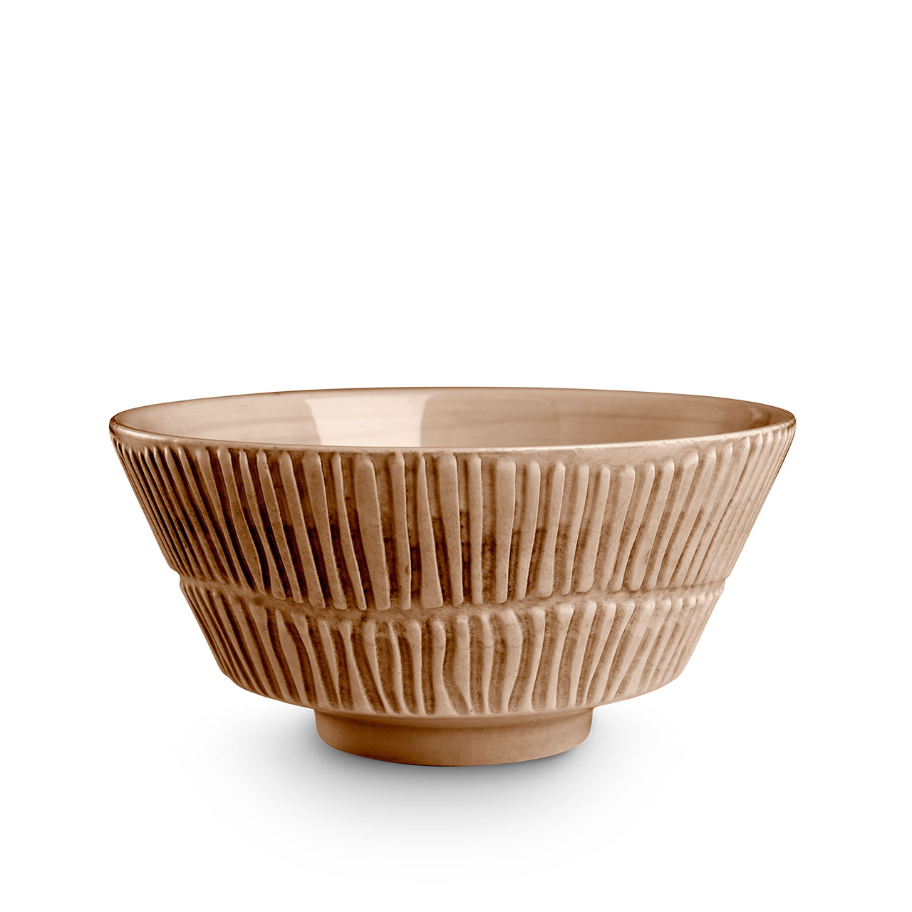 Stripes Cinnamon bowl. © Mateus Ceramics, 2020.