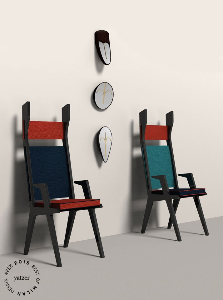 Colette chair and Wise Men mirrors by Lorenza Bozzoli for Colé.