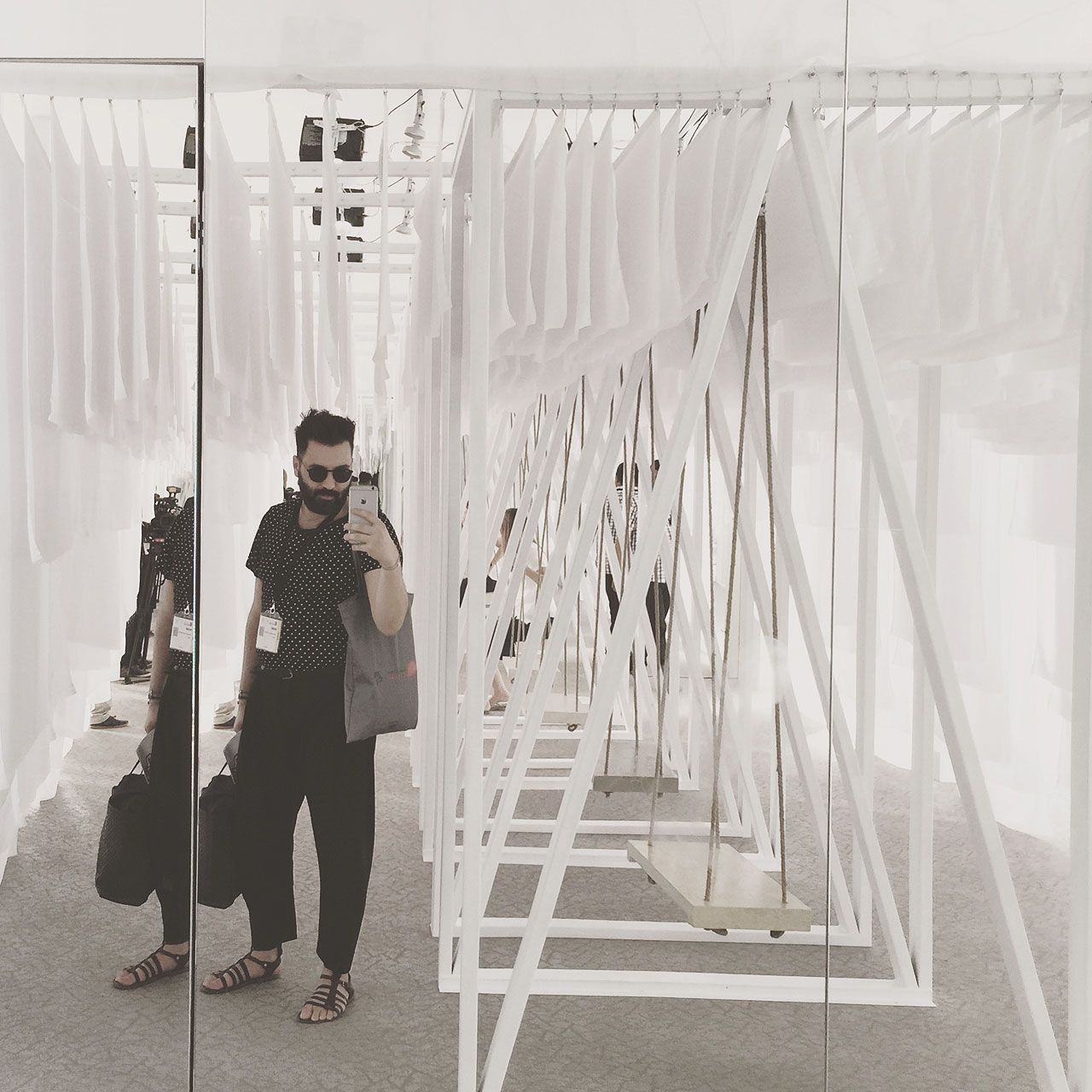 """ABWAD: Jordan Pavillion;""""The Untitled Swing Project"""" curated by Arini Creative Platforms. Photo by Costas Voyatzis."""