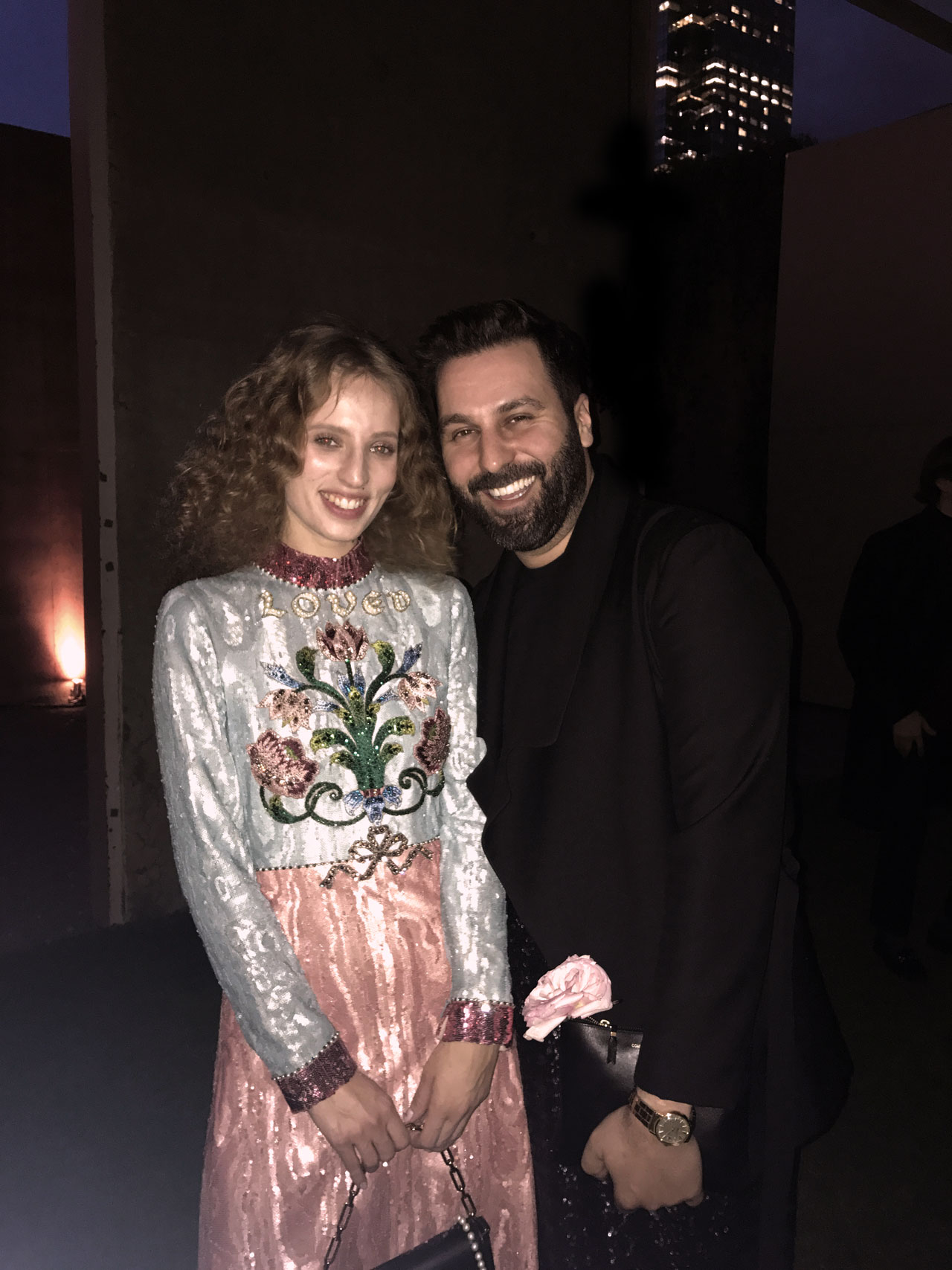Petra Collins and Costas Voyatzis, New York May 2017.