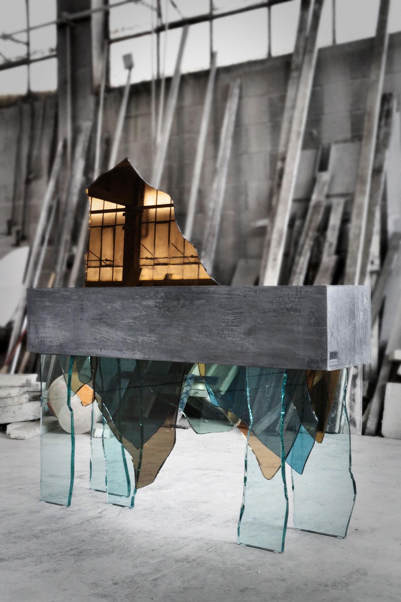 Concreto console by Daniele Ragazzo.