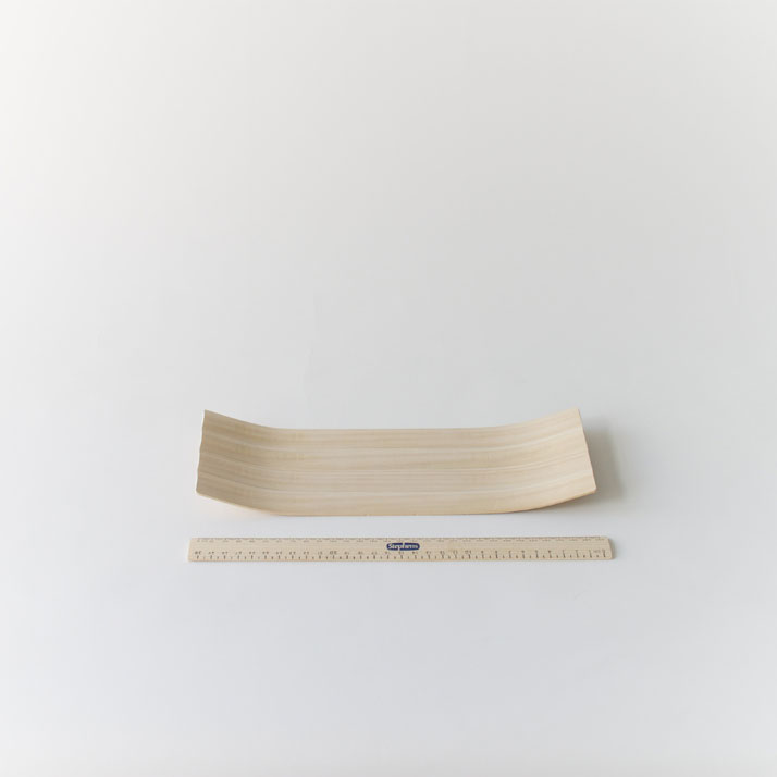 TrayWooden rulers, blender sanded and microwave steam bent.photo © Lynton Pepper.