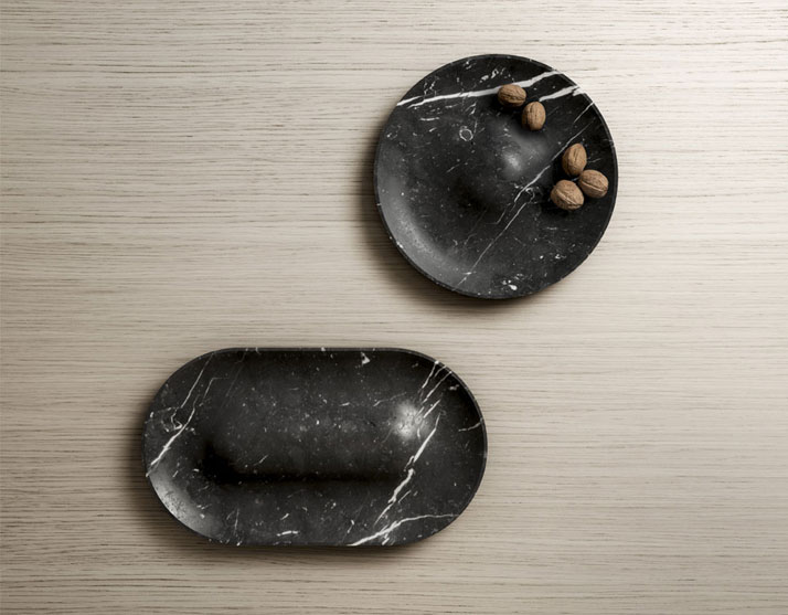 Marble 'Domo' Trays by Jean Louis Iratzoki & Sylvain Willenz for Retegui.