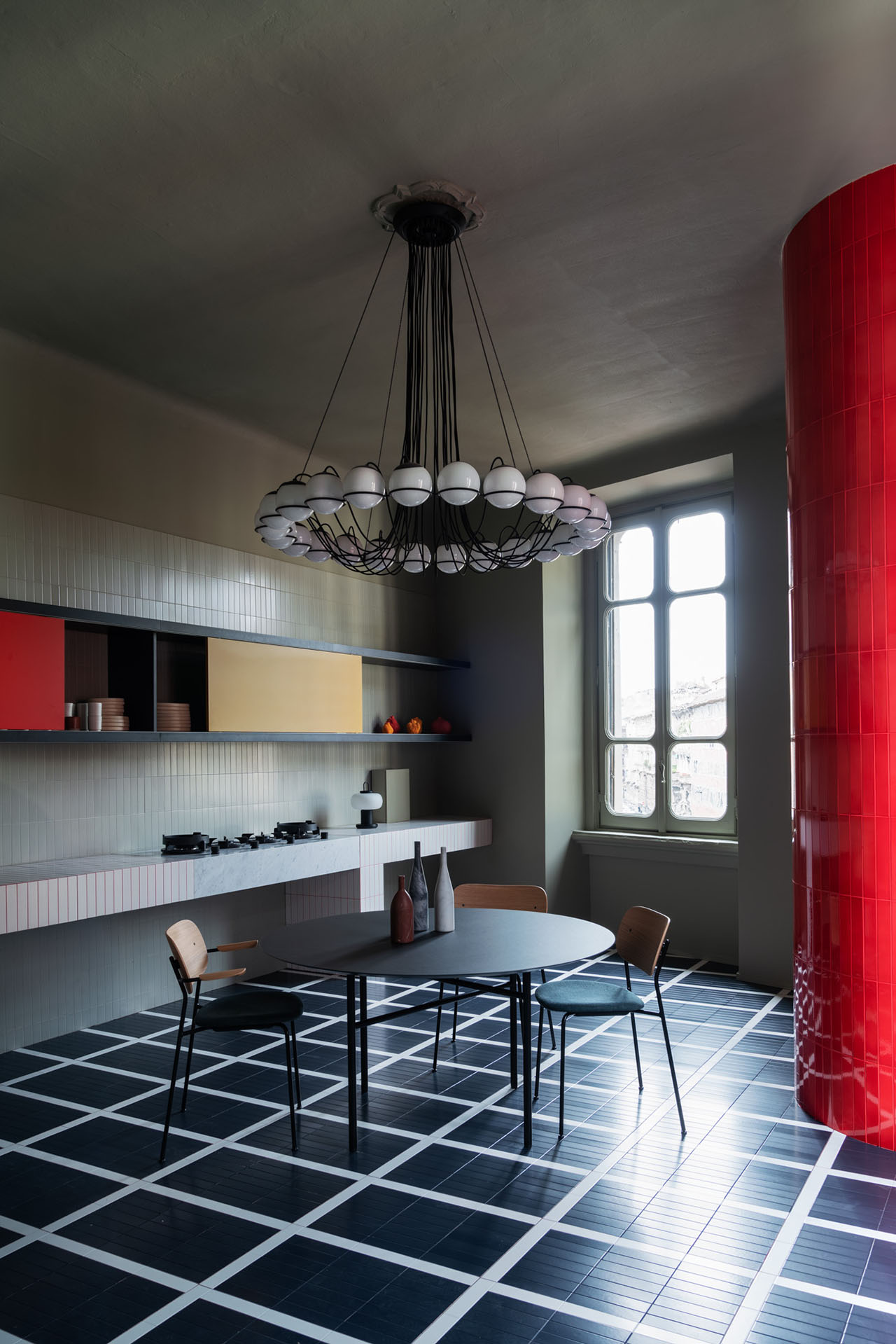 Elisa Ossino and Josephine Akvama Hoffmeyer, creative directors and founders of H+O, revealed their apartment installation, Perfect Darkness.Photo by Giorgio Possenti.