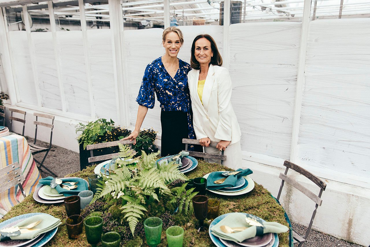 Emma Wiklund (left) and Mateus founder Teresa Mateus Lundahl at Mateus Meets Fashion 2019, Stockholm, Sweden. Photo by Rasmus Lindahl © Mateus.