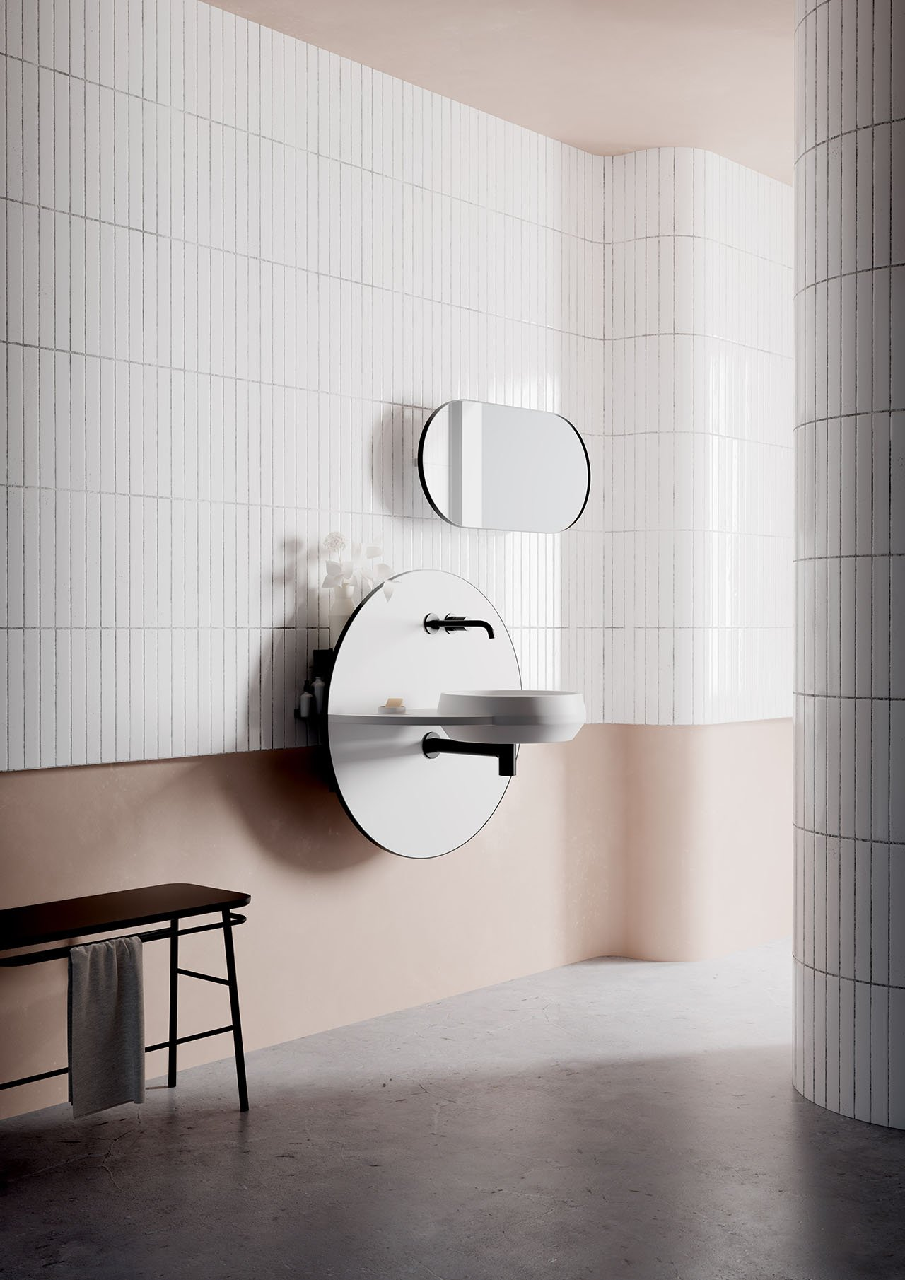 Arco multifunctional bathroom system by Spanish design studio Mut for Ex.t.