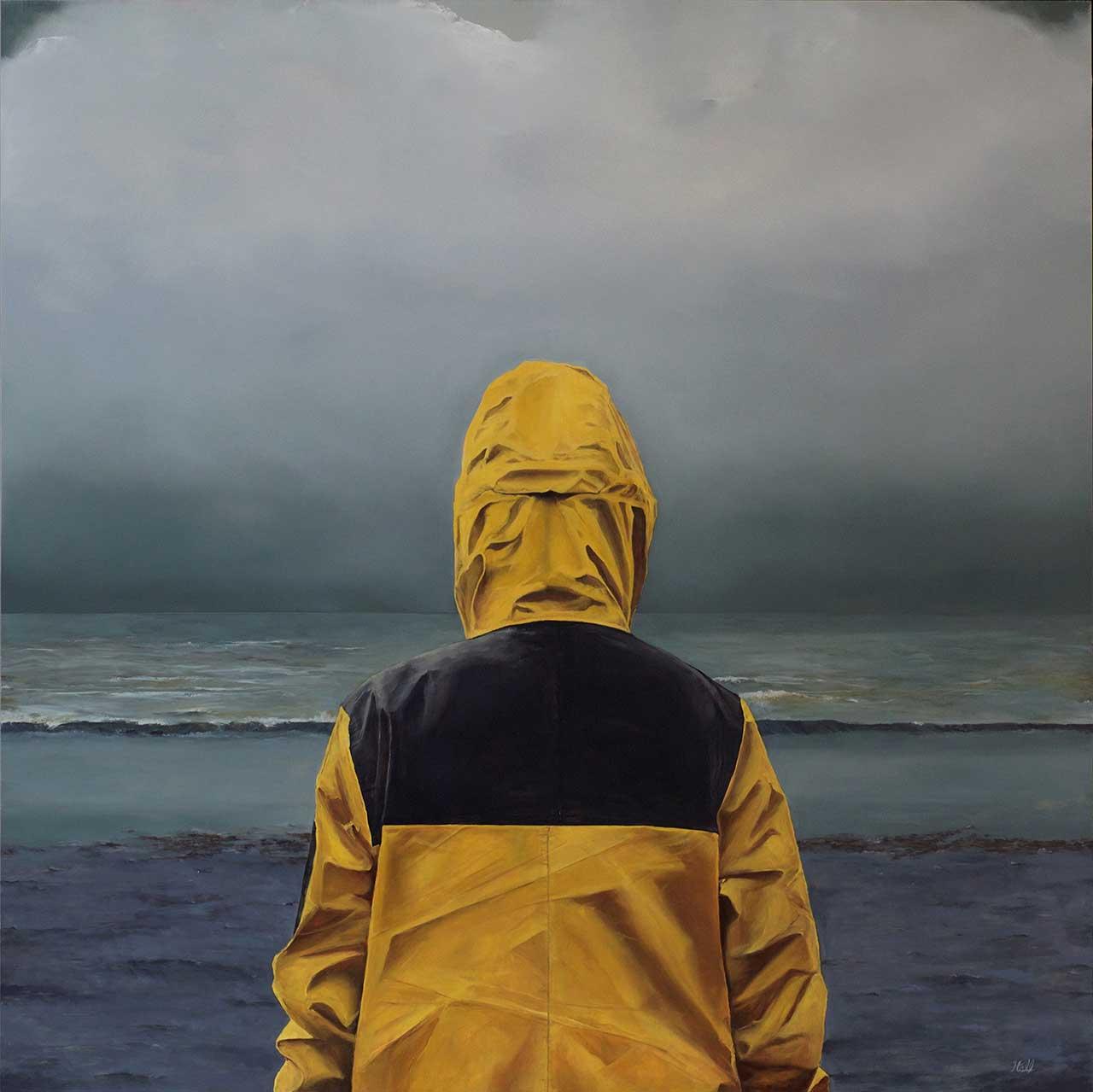 "Adam Hall,Untamed,36"" x 36"", oil on panel. CourtesyRobert Lange Studios and the artist."