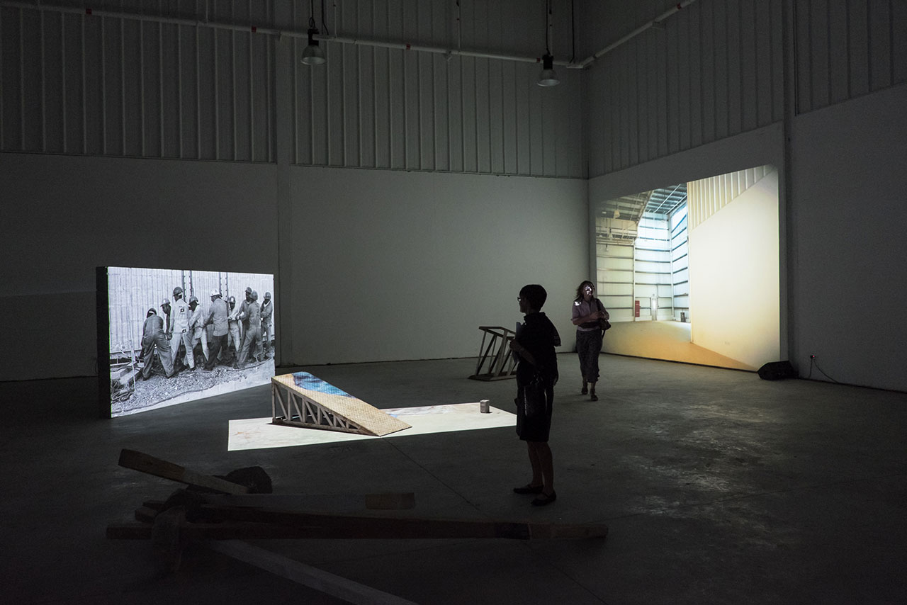Galleries Night, Alserkal Avenue, March 2015, Hazem Harb comission by Alserkal Avenue. Photo courtesy Lindsay Kirkcaldy, Alserkal Avenue.