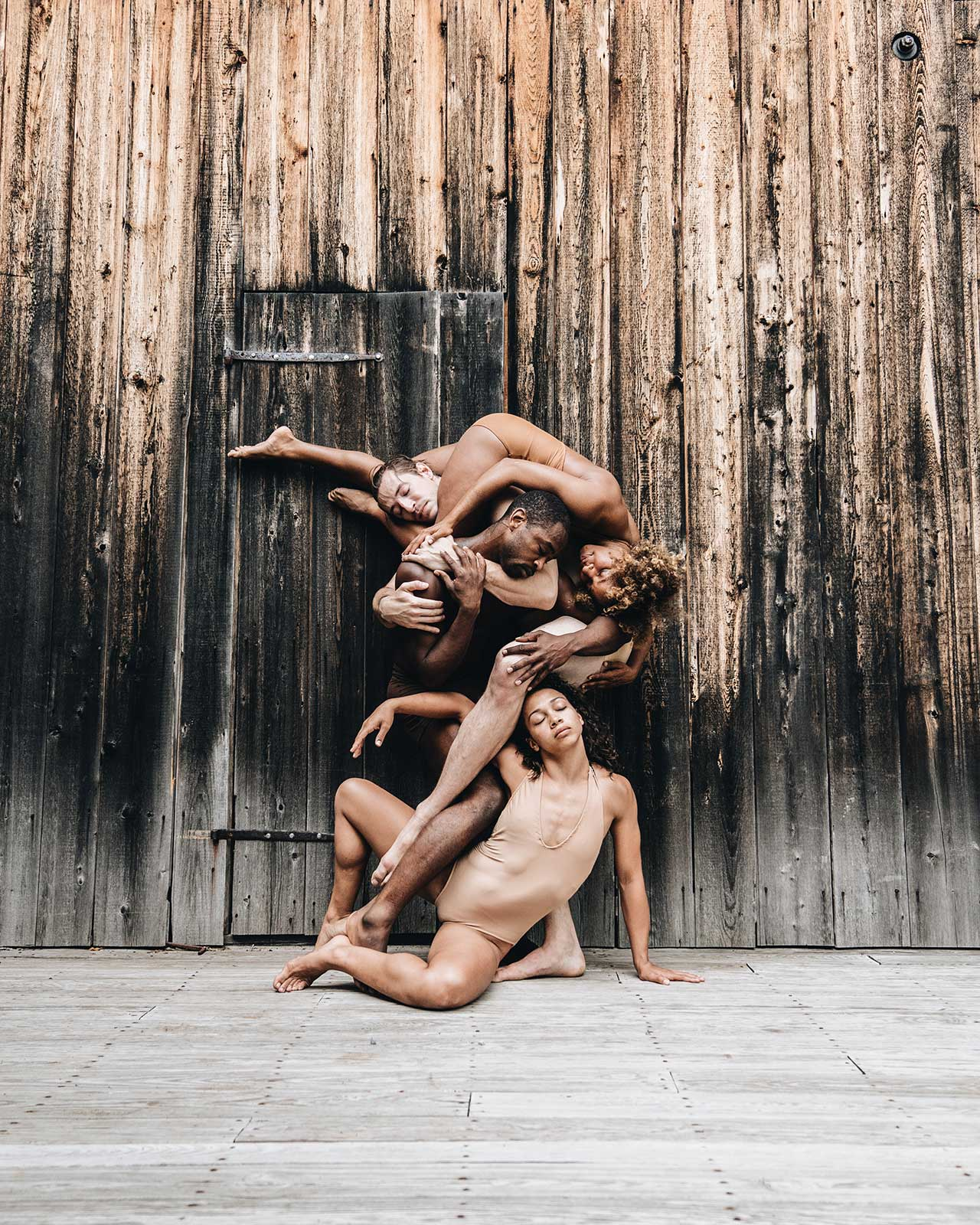 Location: Jacob's Pillow | Dancers: Antoine Banks-Sullivan, Krystal Butler, Jake Warren, Isabella Diaz | Photo © Oveck Reyes from the series #CamerasandDancers.