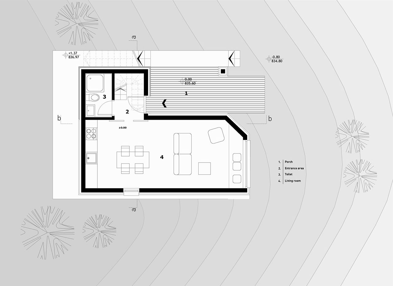 Divčibare Mountain Home, ground floor plan.
