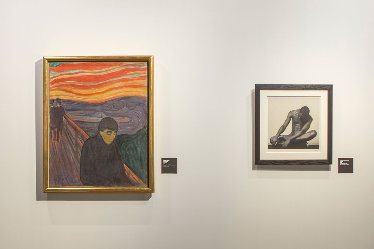 Mapplethorp + Munch exhibition at the Munch Museum, Oslo (2016).Installation view.Photo by Ove Kvavik.Courtesy the Munch Museum.
