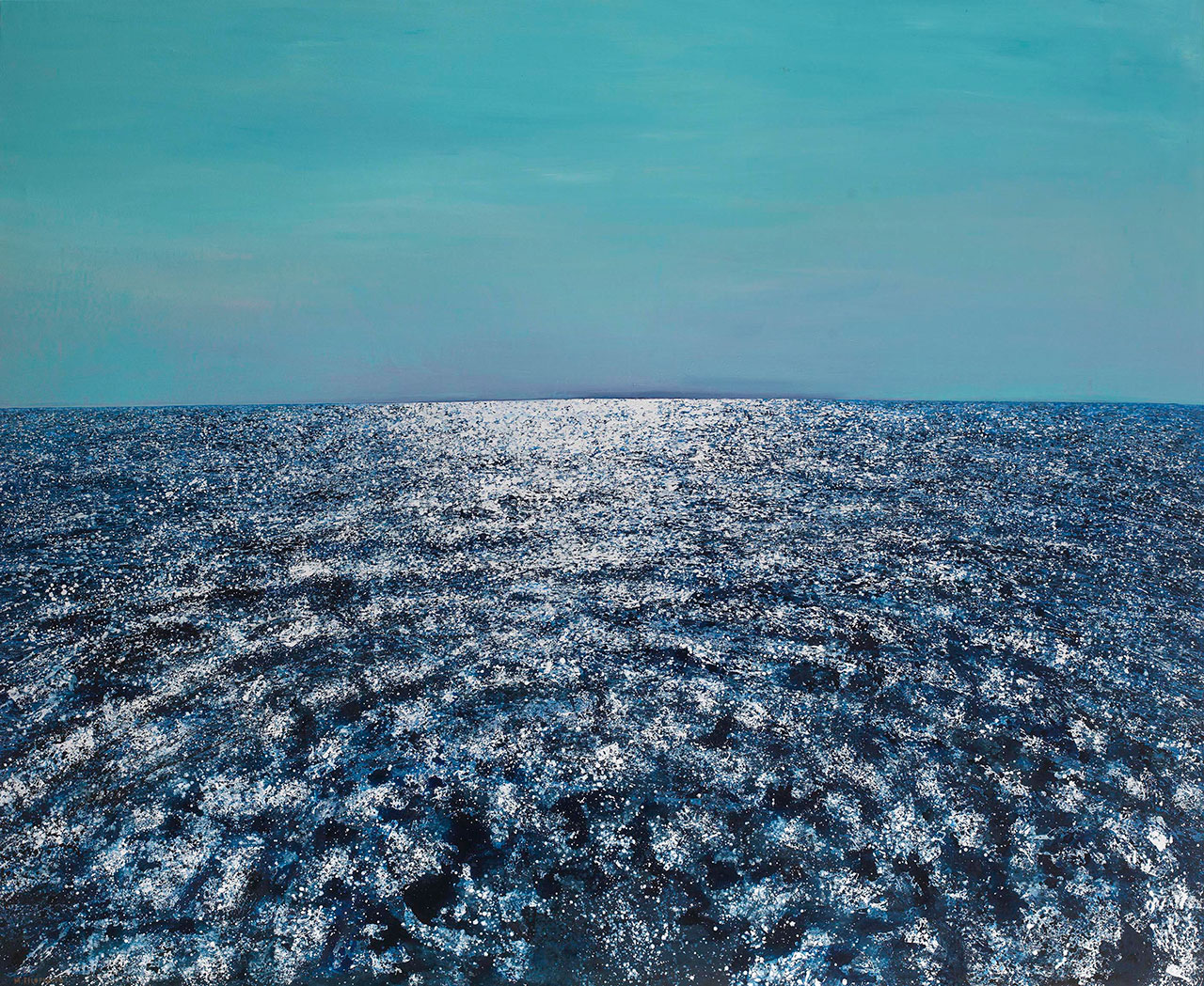 Maria Filopoulou, Sea, 2016. Oil on canvas, 160 x 200cm.