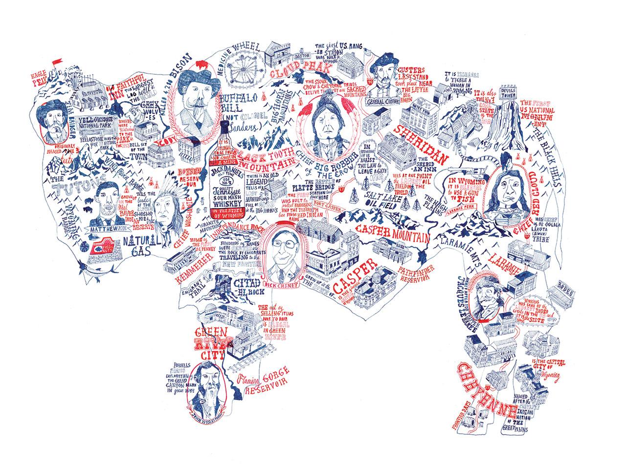 Stuart Hill - Buffalo Map, 2013, Buffalo, NY, USA. From 'Mind the Map', © Gestalten 2015.