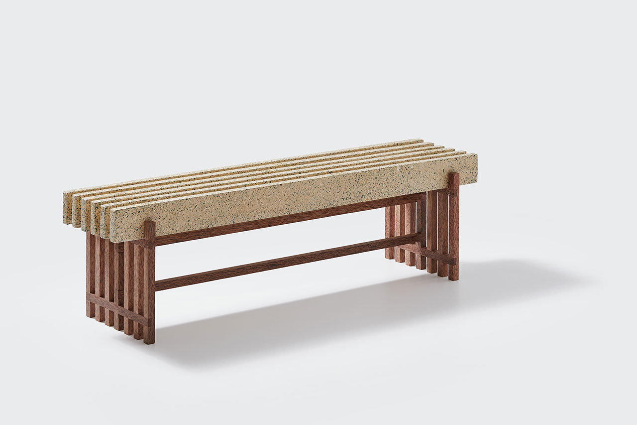 LAZY | AFTERNOON bench from Trending Terrazzo collection by Bottle-up.