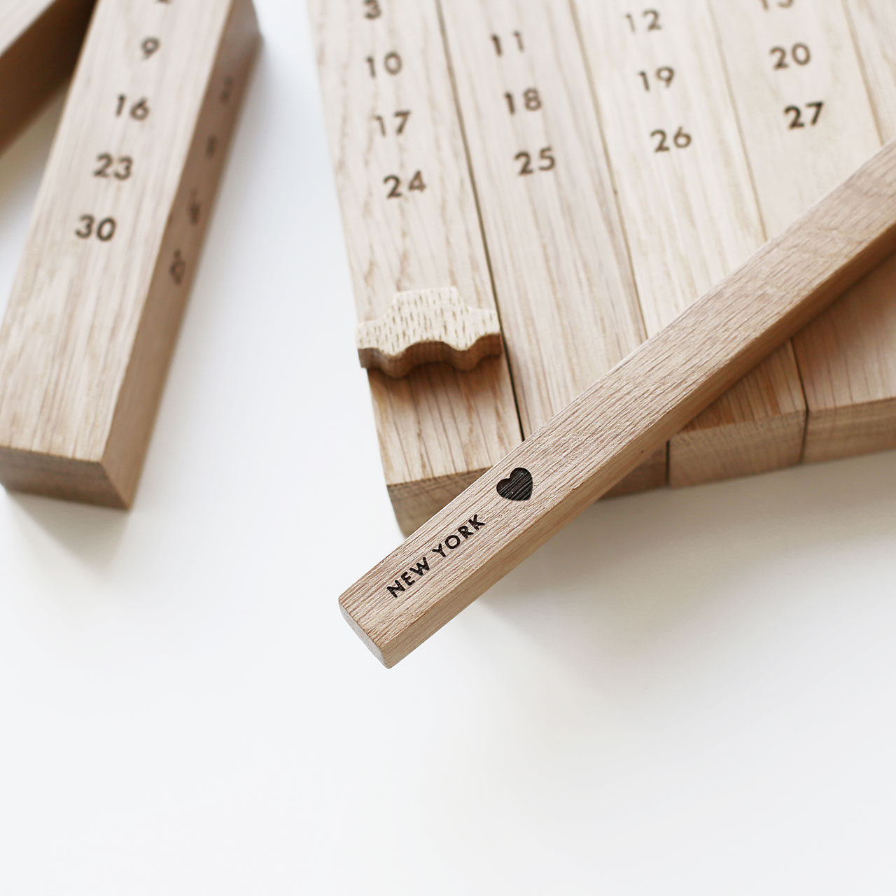 "Wooden calendar ""New York"" by 52 FACTORY. Photo courtesy 52 FACTORY."