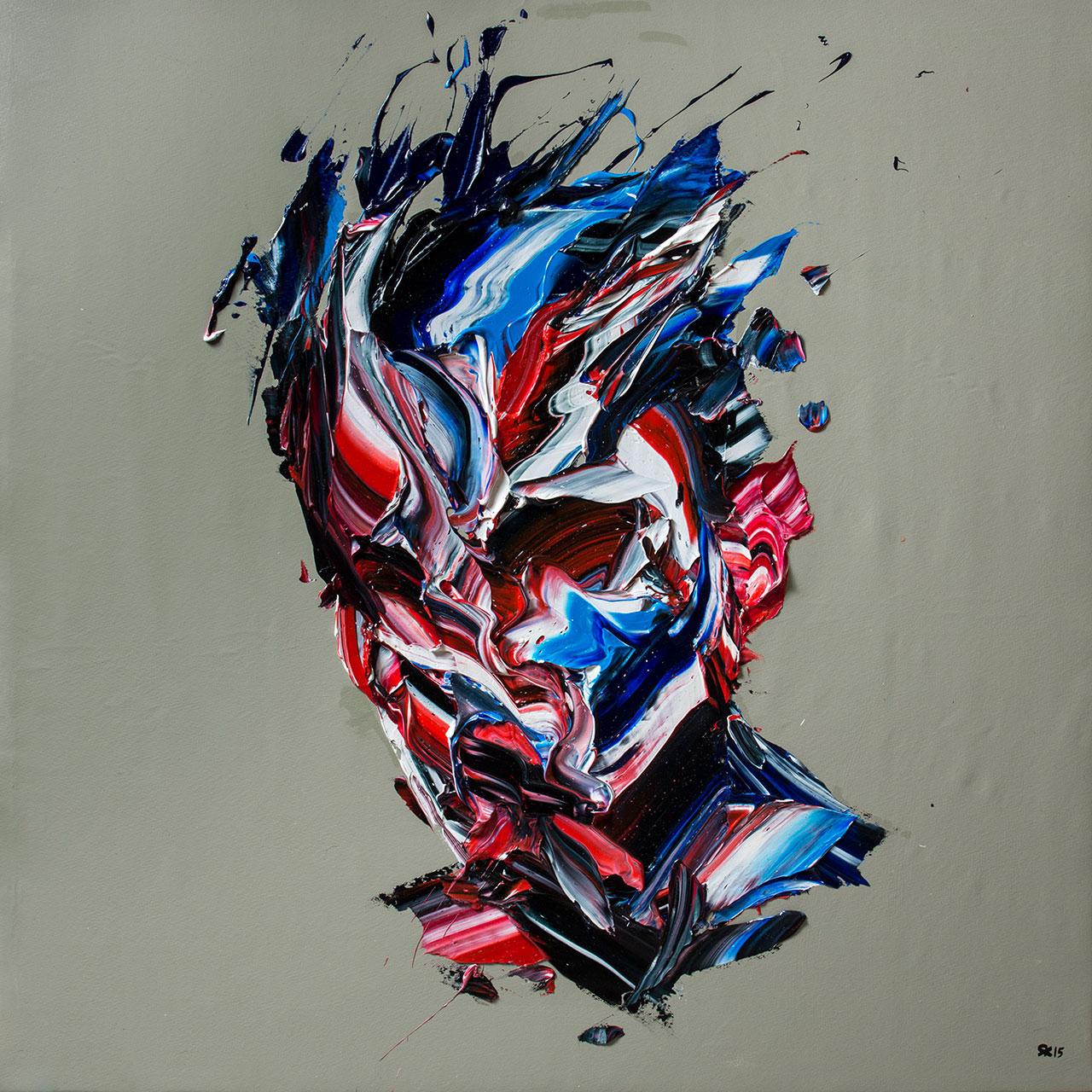 Salman Khoshroo,Large painting 5,120x120cm, oil on canvas.