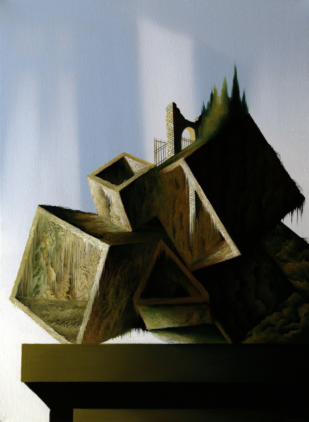 Vasilis Avramidis,The edge, 55x40cm oil on canvas.