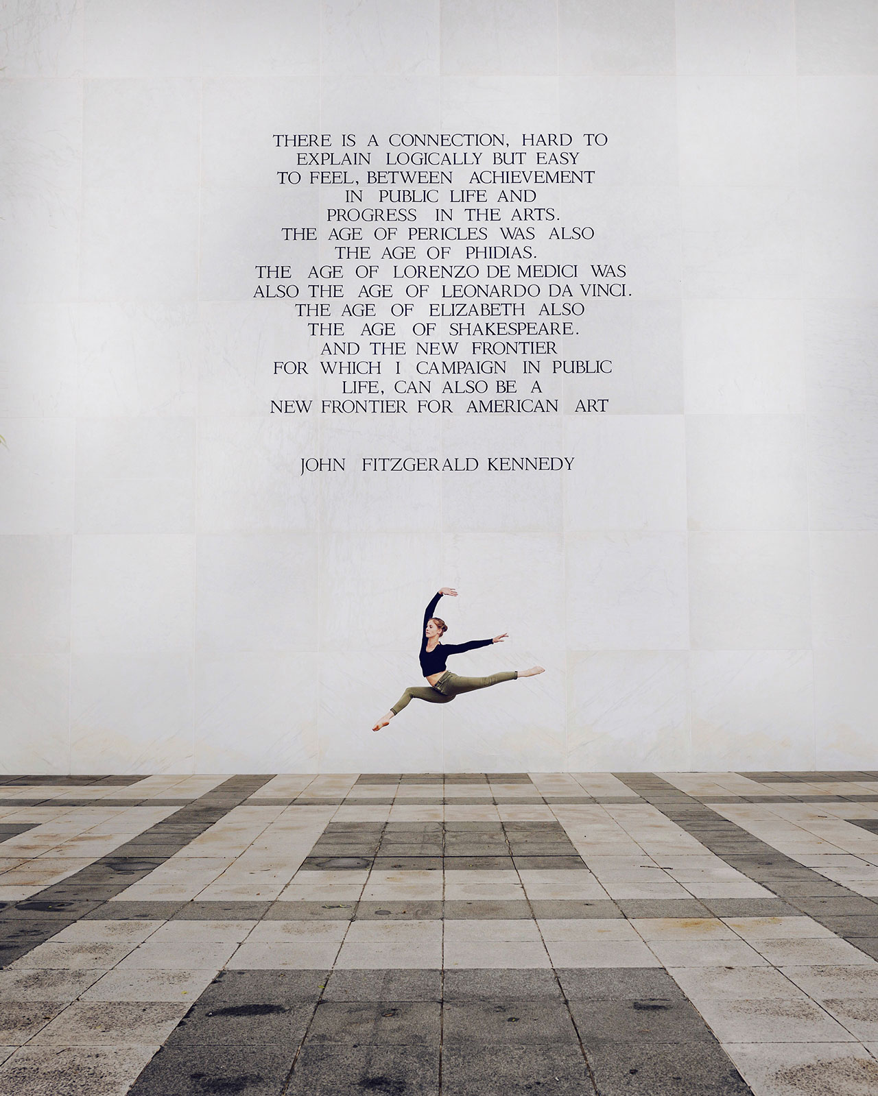 Location: The Kennedy Center | Dancer Jill Wilson | Photo © Tyson Wheatley from the series #CamerasandDancers.