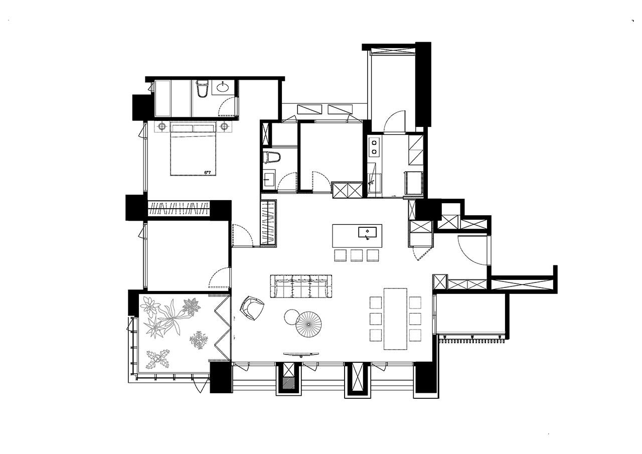 Plan ©2BOOKS space design.