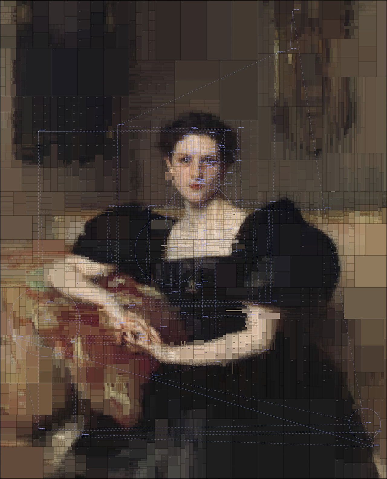Elizabeth Winthrop Chanler, from Portraits series by Dimitris Ladopoulos (Original painting by John Singer Sargent,1893).