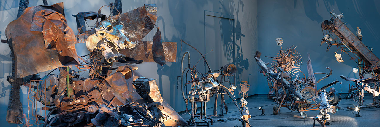 Jean Tinguely, Mengele-Totentanz, 1986, coll. Museum Tinguely Basel. Photo by Gert Jan van Rooij.