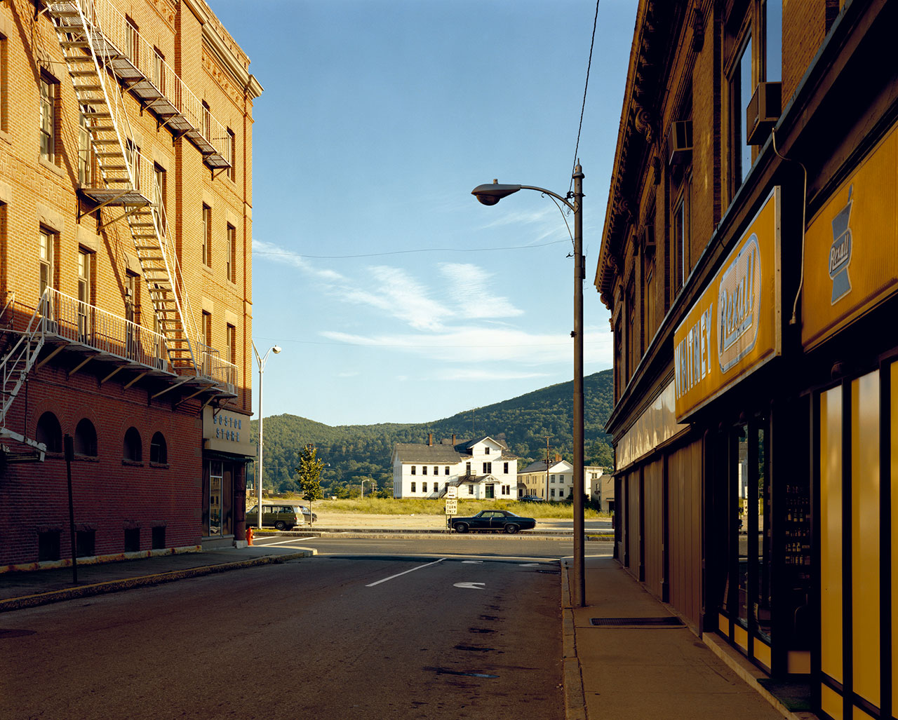 Stephen Shore, 'Holden Street, North Adams, Massachusetts, July 13, 1974', 1974 (printed 2014). C-print, Edition of 8, 43.2 x 55.2 cm / Paper 50.8 x 61 cm / Framed 59 x 68 cm. Courtesy of the artist and 303 Gallery, New York.