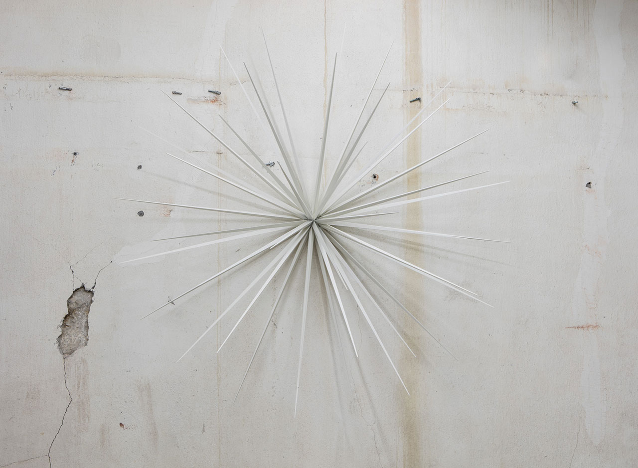 Norman MooneyWall Flower No. 5Cast aluminum with white pigment, Ed. of 376 in. x 36 in. (193 cm x 91.4 cm).