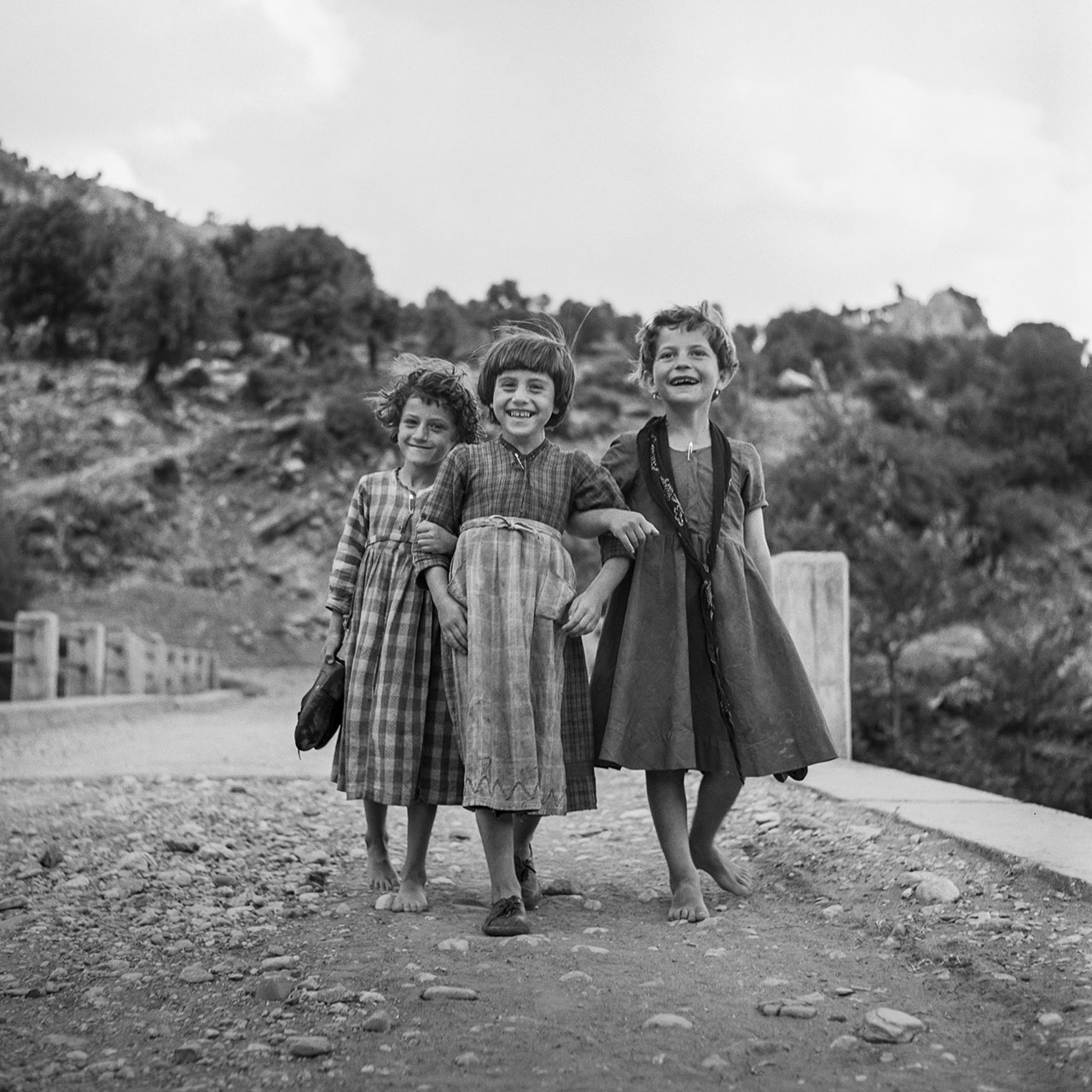 Three Friends, Ano Peristeri, Epiros 1961. Photo © Robert McCabe.