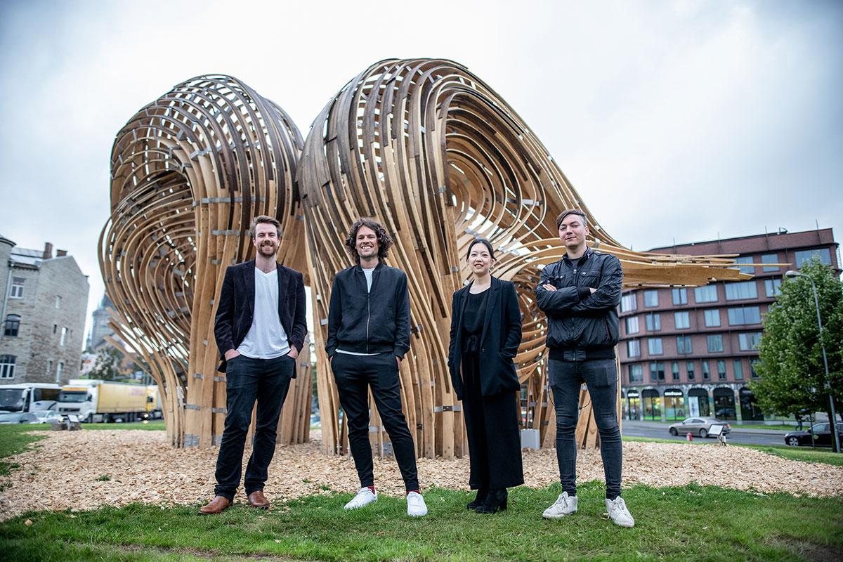 Left to right: Cameron Newnham, Gwyllim Jahn,Soomeen Hahm, Igor Pantic. Photo © Evert Palmets.