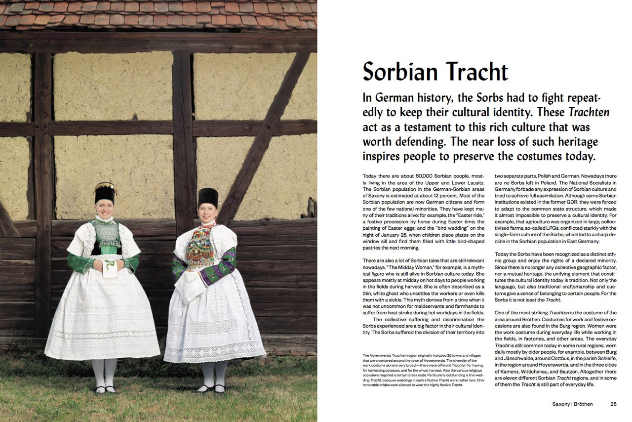 Sorbian Tracht Saxony, Bröthen Photo by Gregor Hohenberg from 'Traditional Couture' © Gestalten 2015.
