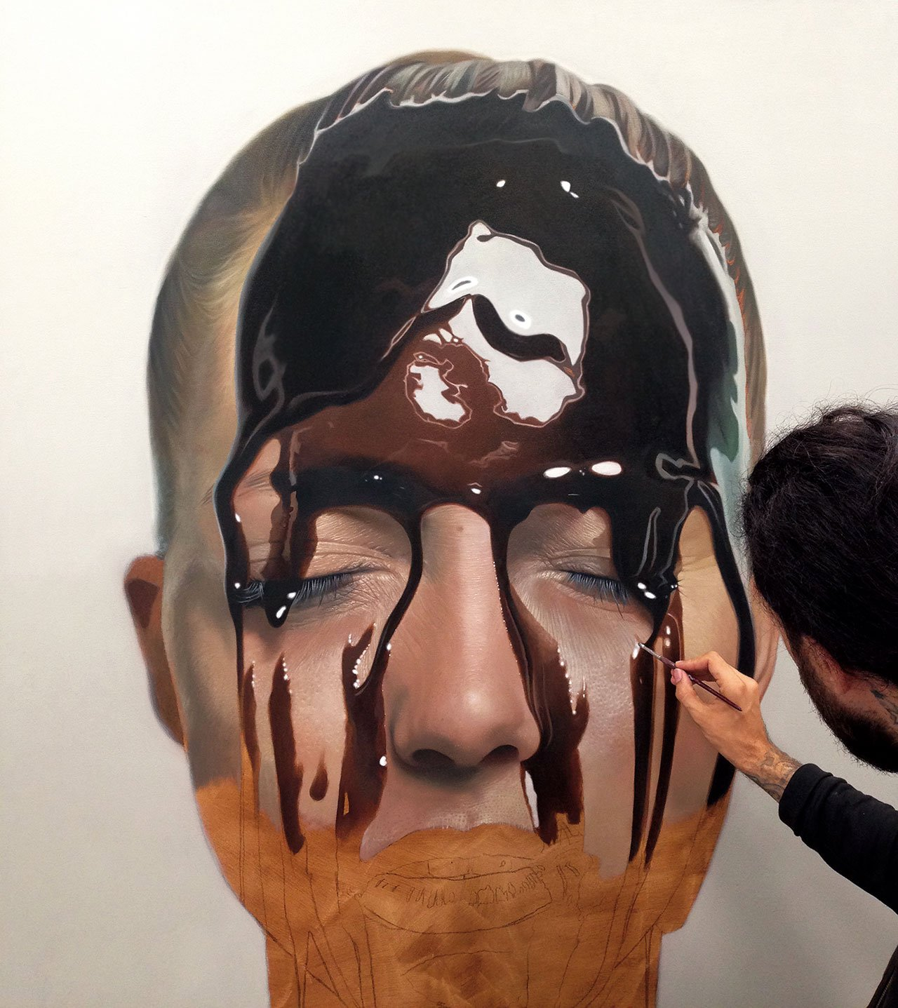 Mike Dargas,Train of Thoughts (in progress), 2015.