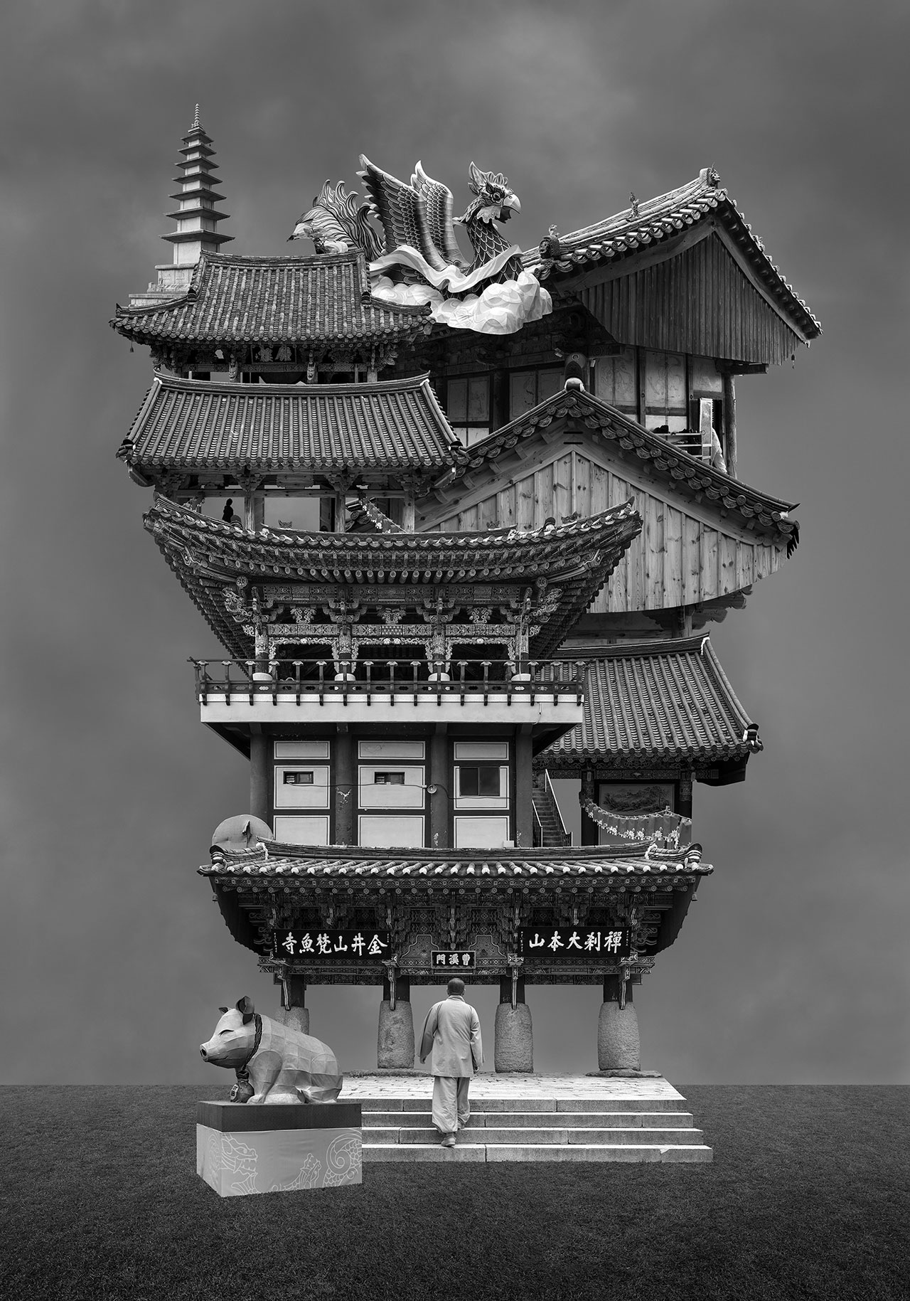 Beomsik Won,Archisculpture 020, 2014. Archival pigment print, 100x70 or 171x120cm.