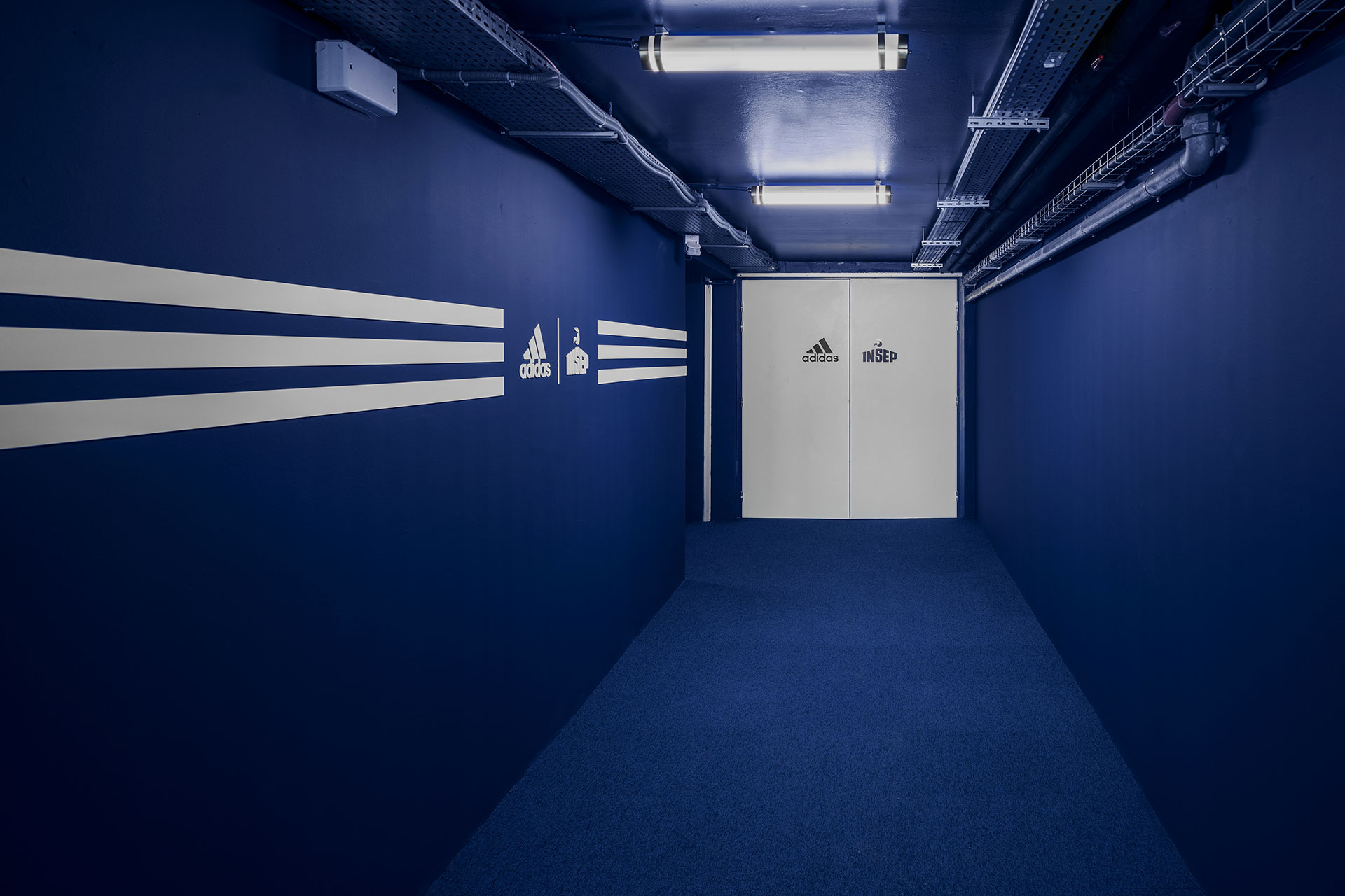 ADIDAS X INSEP by Ubalt Architectes and Ubi Bene. Photography by Yohann Fontaine.